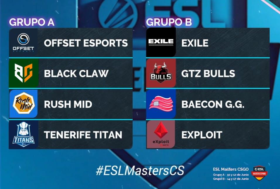 ESL Masters CS:GO - Grupos