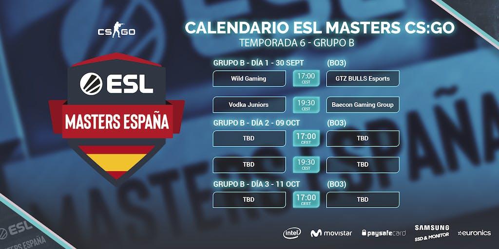 Grupo B - Calendario de la competición